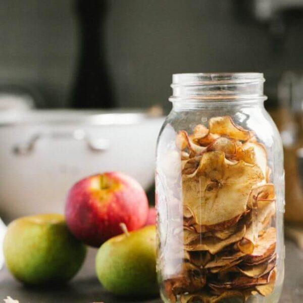 Яблочные чипсы с корицей - СНЕКИ №1