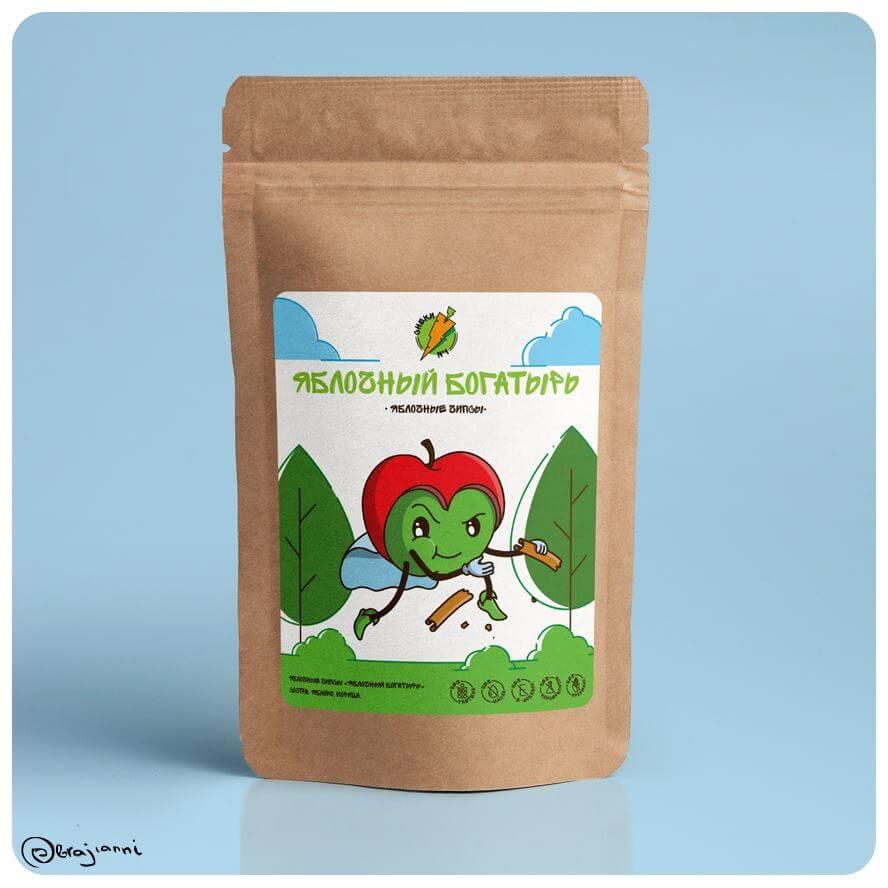 Яблочные чипсы Яблочный богатырь - СНЕКИ № 1