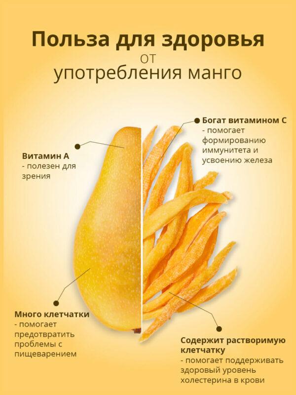 Сушеное манго 100 грамм