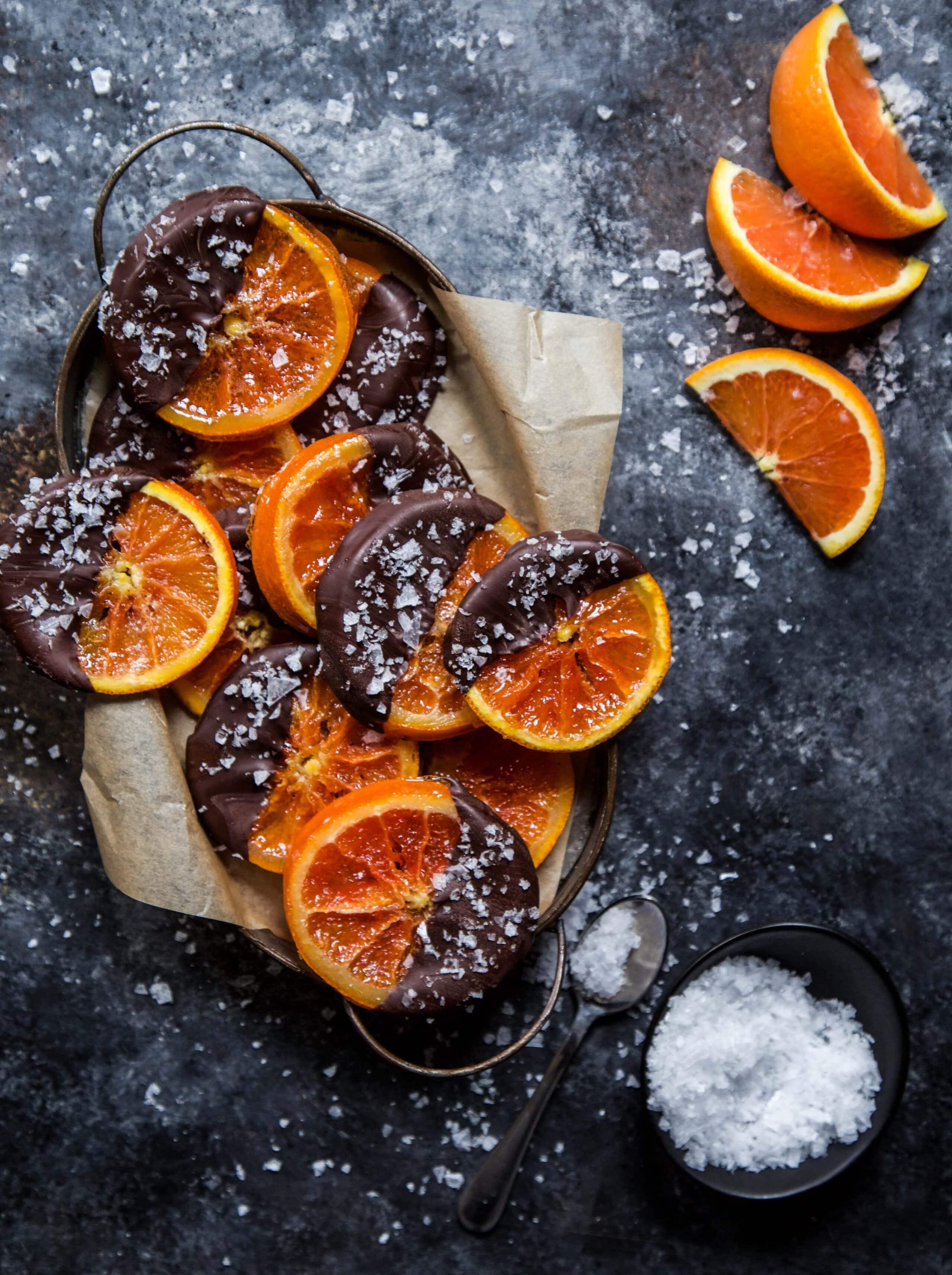 Апельсиновые чипсы с шоколадом рецепт